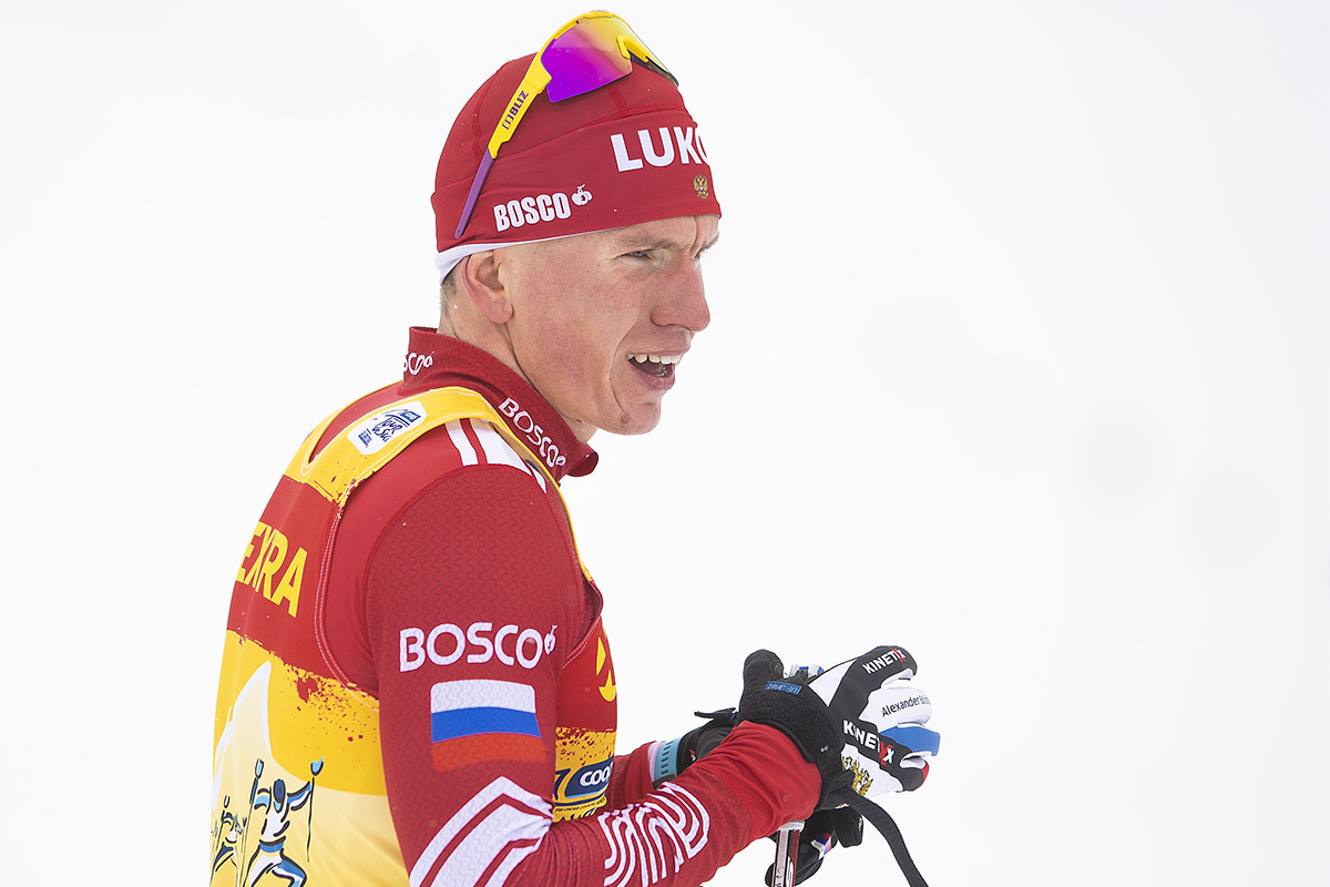 Российский лыжник Александр Большунов.