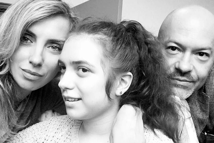 Варя Бондарчук с родителями