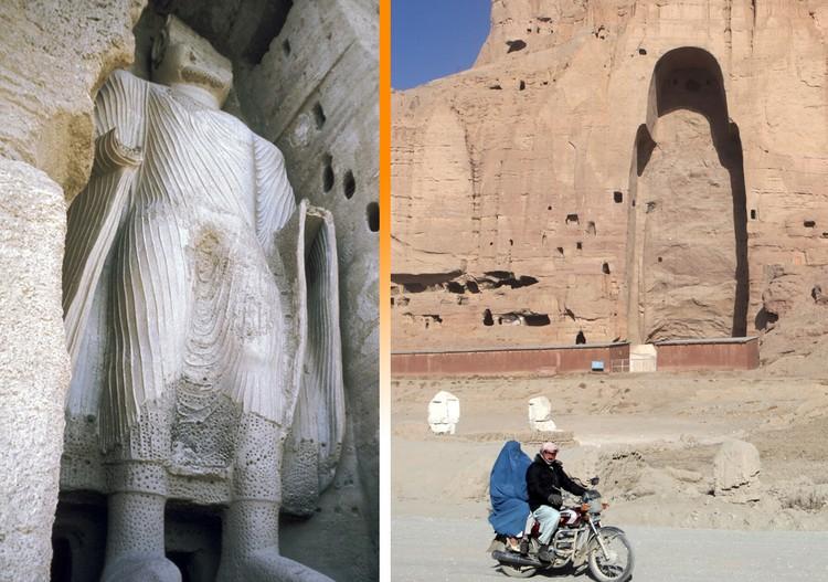 Гигантские статуи Будды были уничтожены талибами* 20 лет назад.