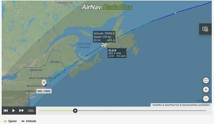Встреча с НЛО произошла над заливом Святого Лаврентия.