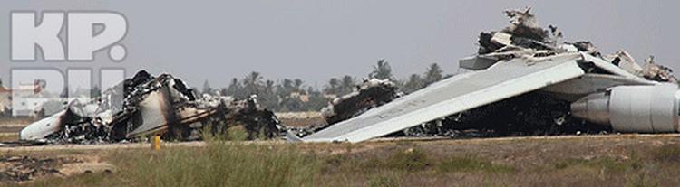 Однако, похоже, что некоторые самолеты просто сожгли перед уходом