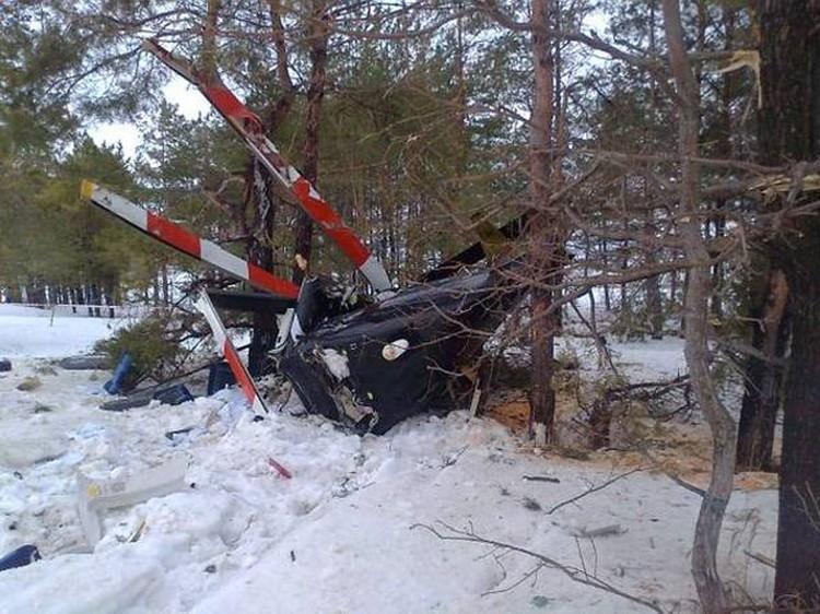 В Татарстане разбился вертолет