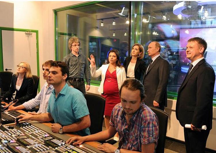 Владимир Путин посетил новый телевизионный комплекс телеканала «Russia Today»