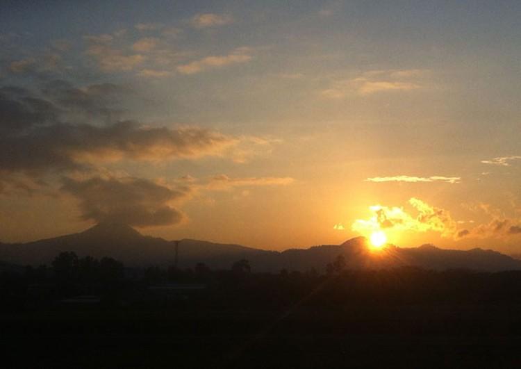 Рассвет над Гондурасом.
