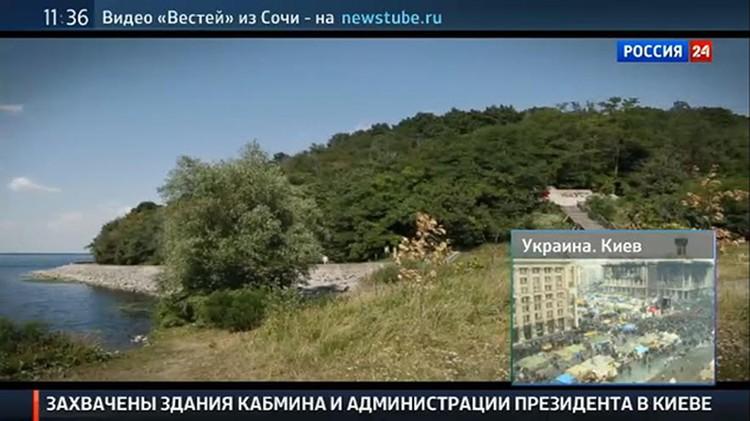"""Телеканал """"Россия 24"""" сообщил о захвате правительственных зданий в Киеве"""