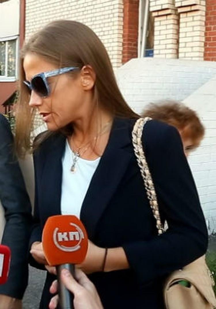 Барановская была рада, что суд закончен.