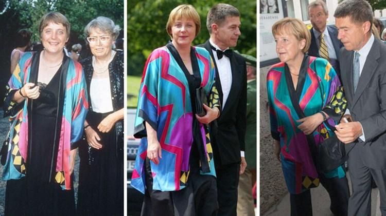 В ярком платье-тунике канцлер уже появлялась на публике неоднократно – сначала в 1996 году, затем в 2002. И вот теперь снова - на фестивале в Зальцбурге.