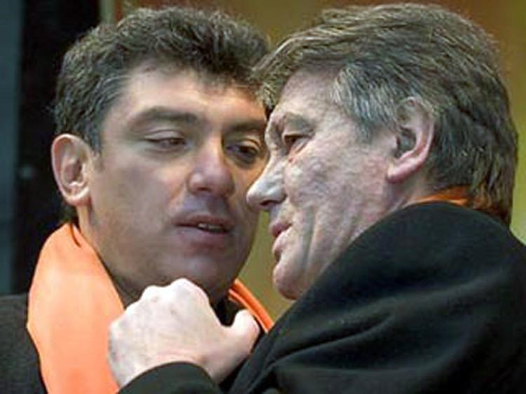 Борис Немцов и Виктор Ющенко