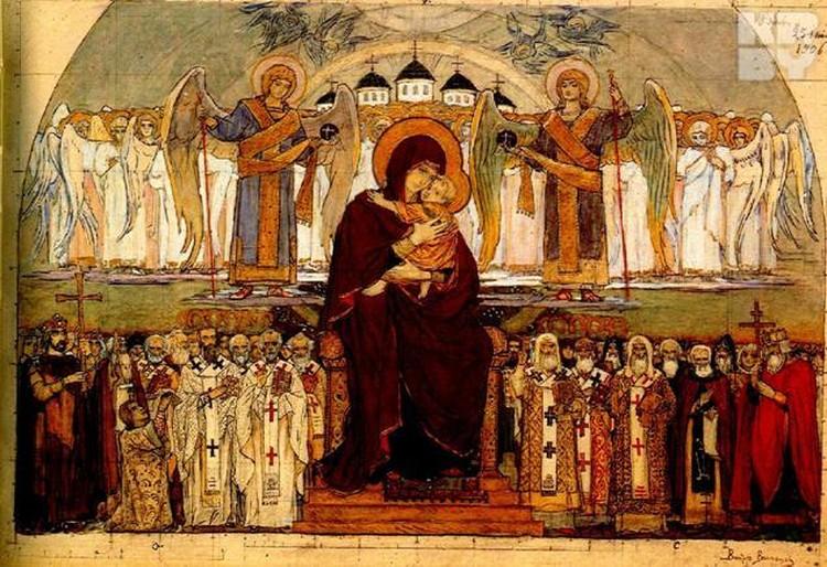 Мозаика в Варшавском соборе была 30 метров в высоту. Фото: из архива храма.