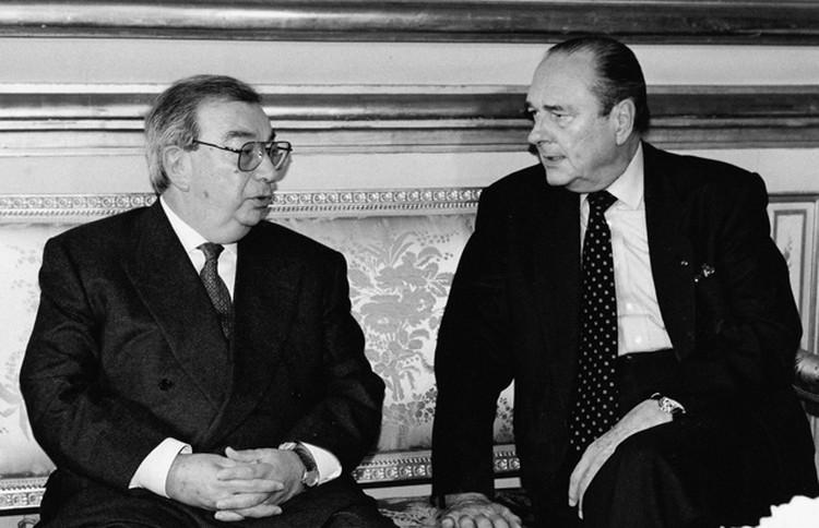 Евгений Примаков и экс-президент Франции Жак Ширак. Фото: личный архив Е. Примакова.