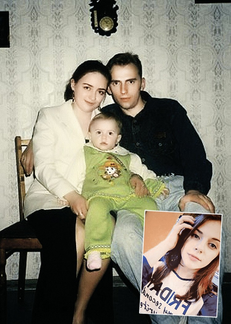 На фото - маленькая Кристина Ерахтина с мамой и папой, погибшим инженером БЧ-7 «Курска» Сергеем Ерахтиным. Малышка стала красивой девушкой (внизу) и готовит себя к военной карьере. Фото: личный архив.