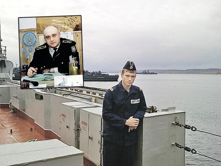 Игорь Багрянцев служит на подлодке «Смоленск». Она того же типа, что и «Курск», где погиб его отец, капитан 1 ранга Владимир Багрянцев (вверху). Фото: личный архив.