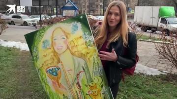 Москвичи за сутки разобрали 40 картин известной советской художницы , сын которой выбросил их на помойку