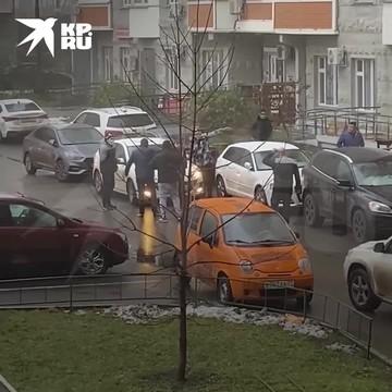 В Москве подрались два водителя