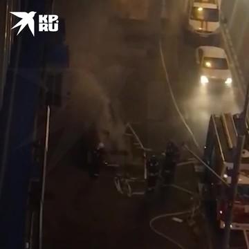 В Москве произошло возгорание в кабельном коллекторе