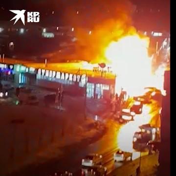 Момент взрыва на цветочном рынке в Краснодаре