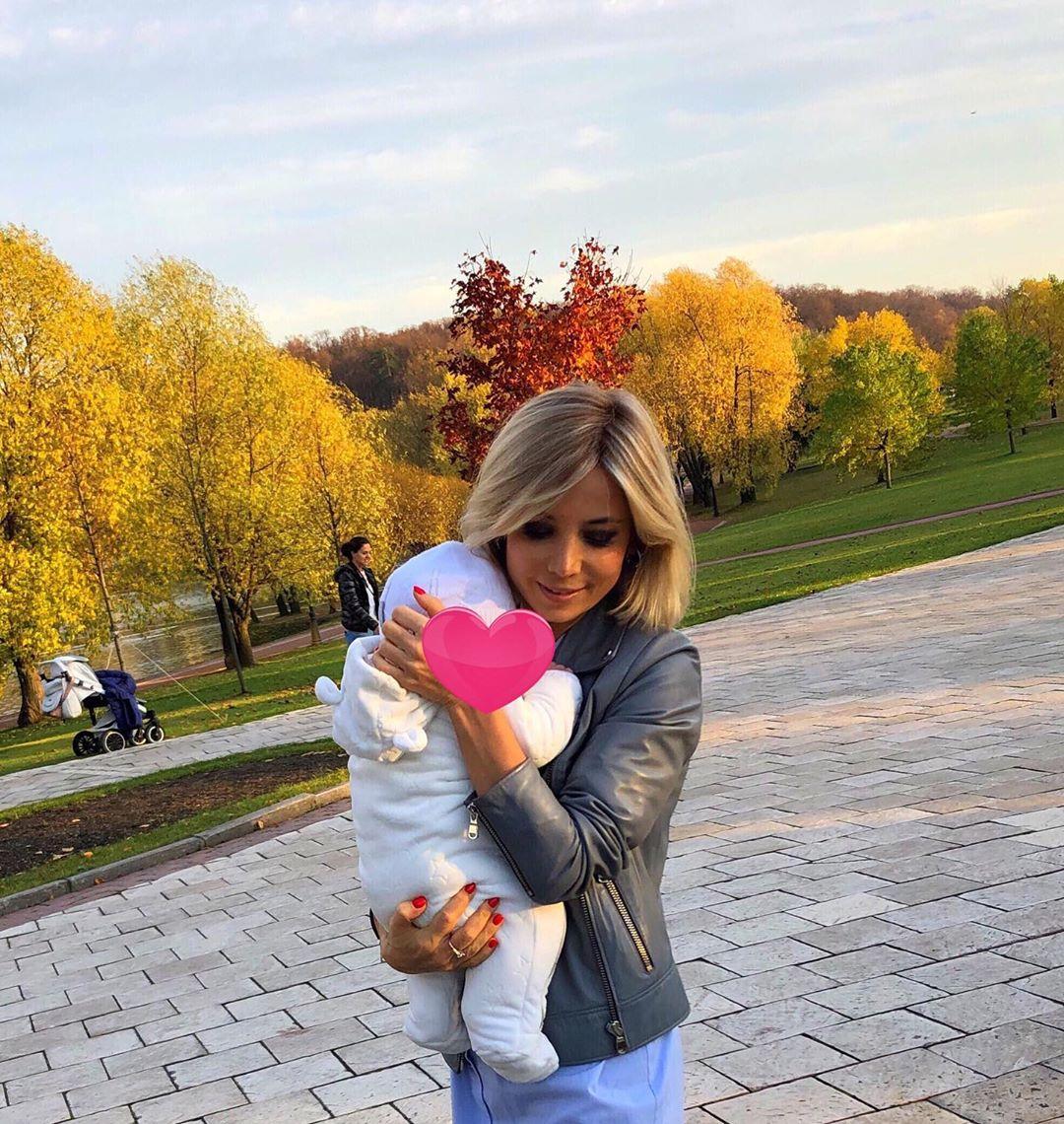 Татьяна Гудзева с малышом