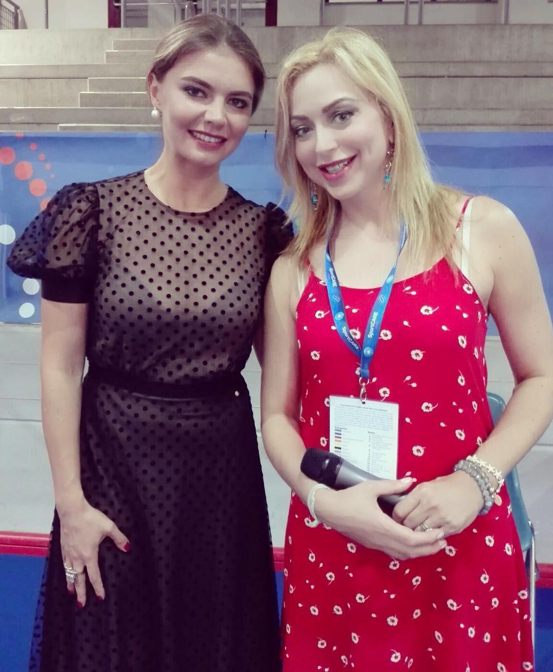With the QUEEN of rhythmic gymnastics Alina Kabaeva #worldschampionship #pesaro2017 #rhithmicgymnastic #alinakabaeva #russia #russiangymnast #italiantelevision #interview #russiangymnastics #goodvibes #queen #olympicchampion #motivational