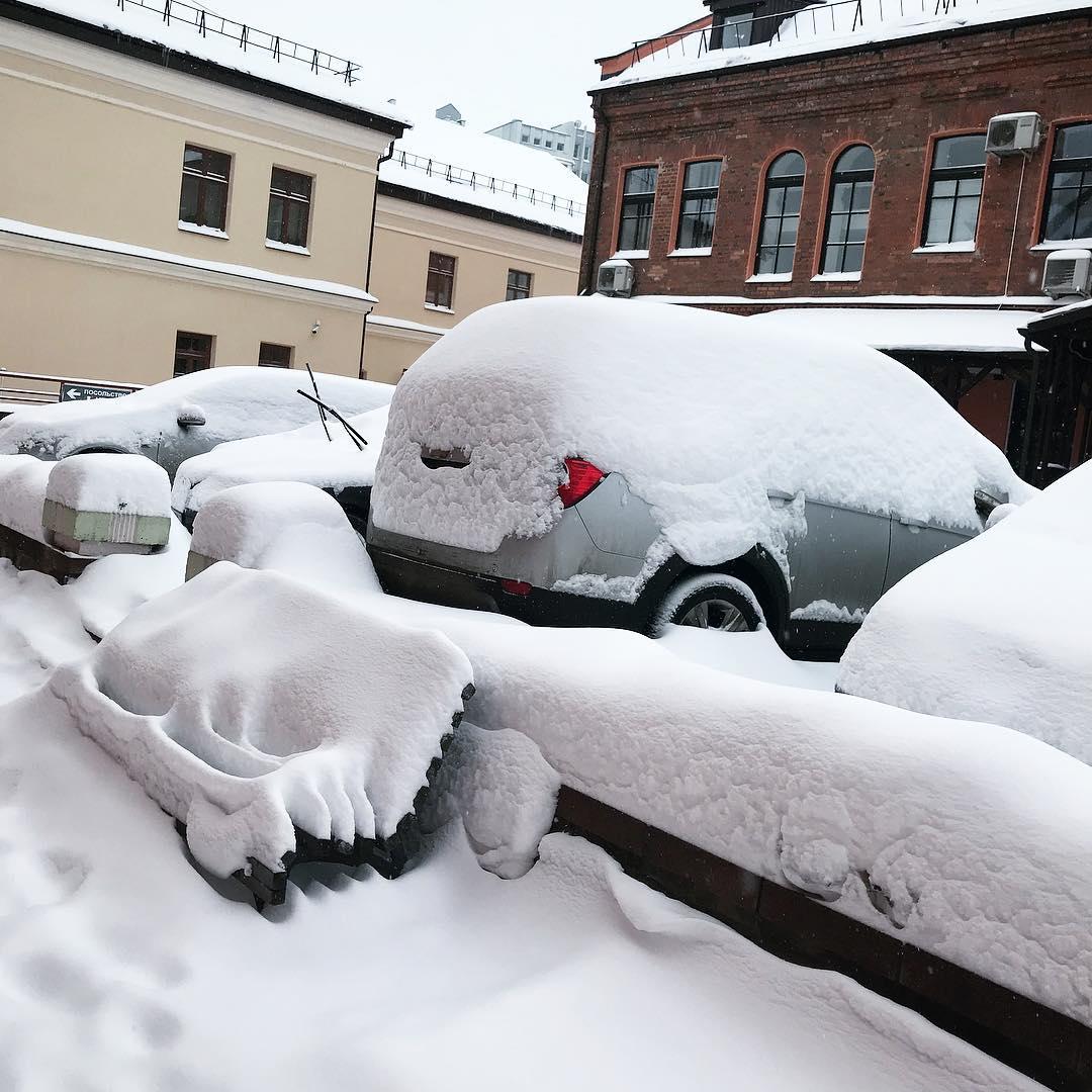 Вот такая должна была быть зима Доброе утро