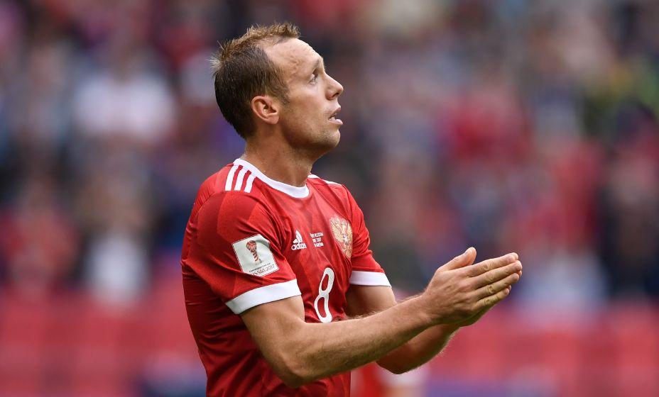 Денис Глушаков провел за сборную России 57 матчей, в который забил 5 мячей. Фото: Global Look Press