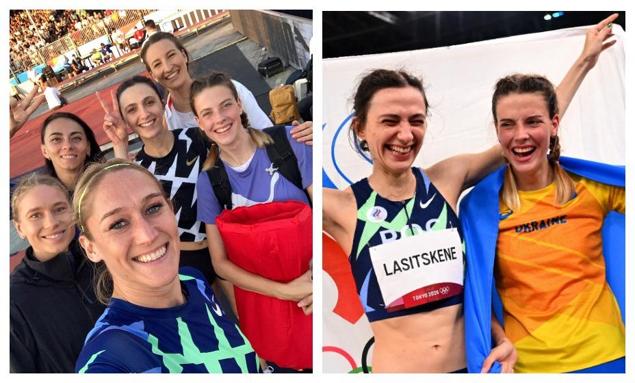 Мария Ласицкене и Ярослава Магучих вновь оказались на одном снимке. Фото: Instagram Eleanor Patterson